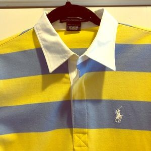 Polo by Ralph Lauren striped collared shirt.